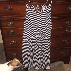 Old Navy XL black n white striped dress